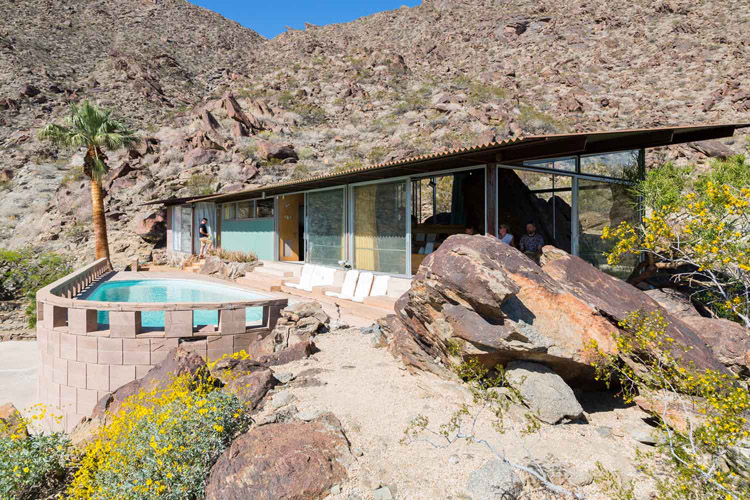 The Frey House was designed by Albert Frey as the second of two homes that architect constructed for himself in Palm Springs and it was the highest residential structure in this area.